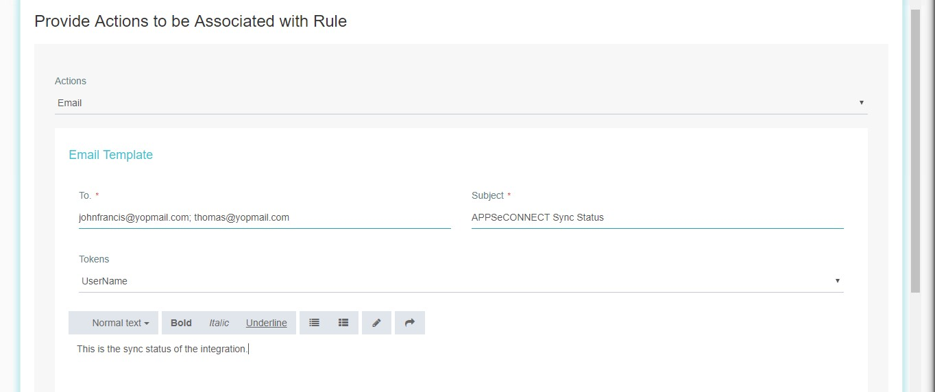 Creation of Rule - APPSeCONNECT Product Docs